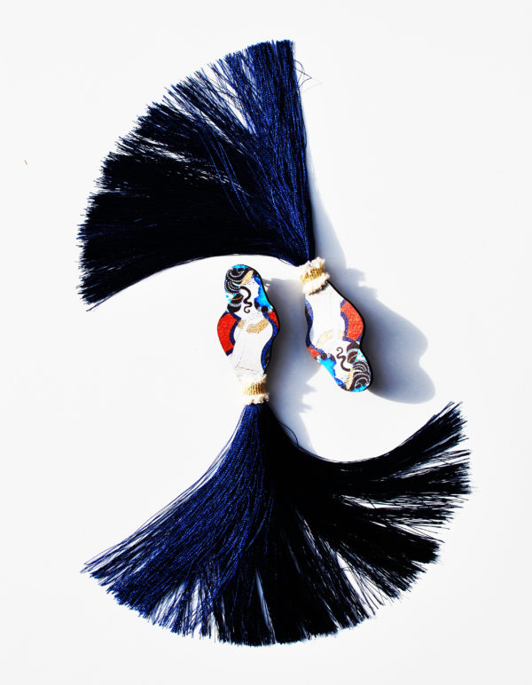 γυναικεία σκουλαρίκια the blue ladies kore collection