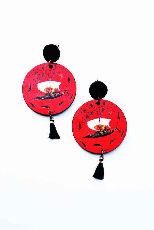 σκουλαρίκια κρεμαστά crossing the wine sea