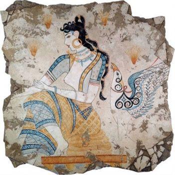 Kore σκουλαρίκια the saffron goddess