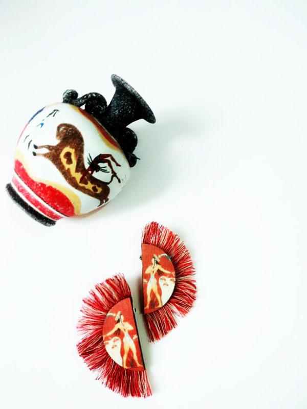 κόσμημα χειροποίητο the prince of lilies red earrings product