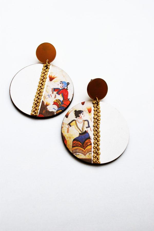 saffron ladies χειροποιητα σκουλαρίκια